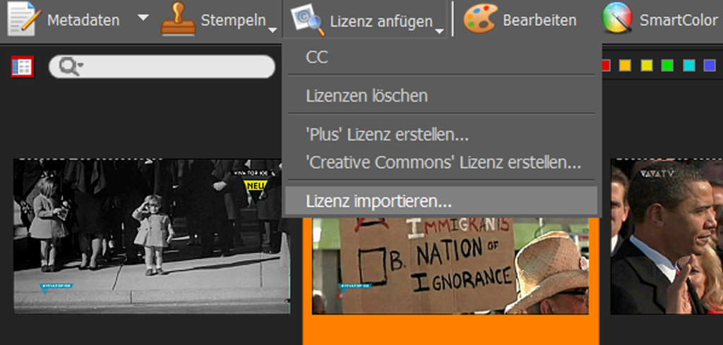 Screen-Lizenz-laden