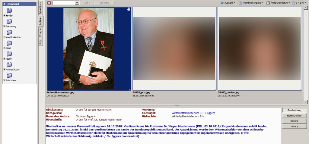 Die Abbildung zeigt eine Bildbeschreibung in FotoStation gebrowst.