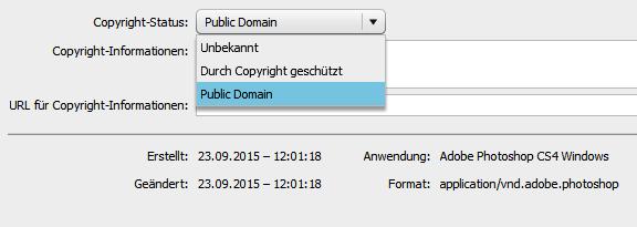Public-Domain-Einstellung